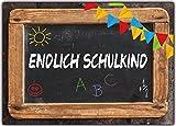 Einladungskarten Schulanfang Einschulung Schuleinführung Einladung Schultafel Set 10 Stück