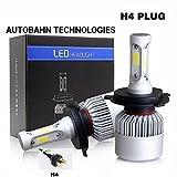 #8: Autobahn LED Headlight H4(Hi/Low) 36W x 2 8000lm 6500K purewhite 2pcs