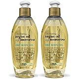 Organix Hydrating Moroccan Argan Oil, Dry Body Oil 6.8 fl oz / 200 ml (Pack of 2)