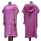 Lightahead® poncho in cotone con cappuccio, per cambiarsi, da spiaggia e surf, Pink