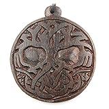 Drachensilber Lebensbaum keltischer Schmuck aus Holz, Kettenanhänger zeitlos natürlich Länge 4,5cm, inkl Textilband Holzschmuck
