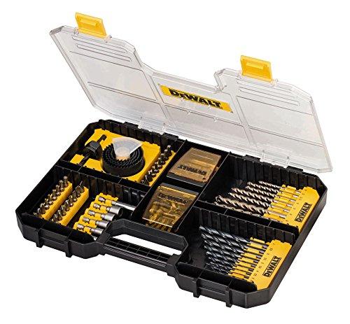 SET FORARE ED AVVITARE PER CASSETTO TSTAK  -  Contenuto:  8 punte muratura diam. 4, 5, 5.5, 6x2, 8x2, 10mm. 12 punte metallo diam. 1.5, 2, 2.5, 3, 3.5, 4, 4.5, 5, 5.5, 6, 6.5, 7mm. 4 seghe a tazza diam. 32, 38, 44, 54mm. 1 mandrino sega a tazza. 1 adattatore magnetico. 5 bussole 5, 6, 7, 8, 10mm. 69 inserti misti da 25 mm PH1, PH2, PH3, PZ1, PZ2, PZ3, SL4, SL5, SL6, SL7.2, T10, T15, T20, T25, T27, T30