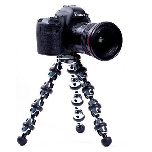 Mobilegear-Transformer-Series-Flexible-Leg-Tripod-10-Inch-With-Chrome-Finish-for-Mobiles-DSLR-Cameras