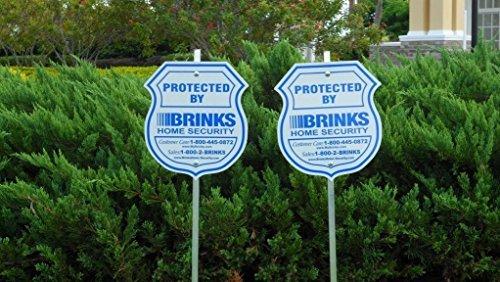 2Reflektierende Home Authentic Sicherheit Schilder und 8refective Aufkleber Brinks Security Alarm