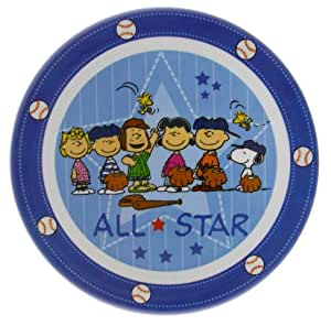 The Peanuts - Snoopy, Charlie Brown et Amis - assiette Baseball All Star