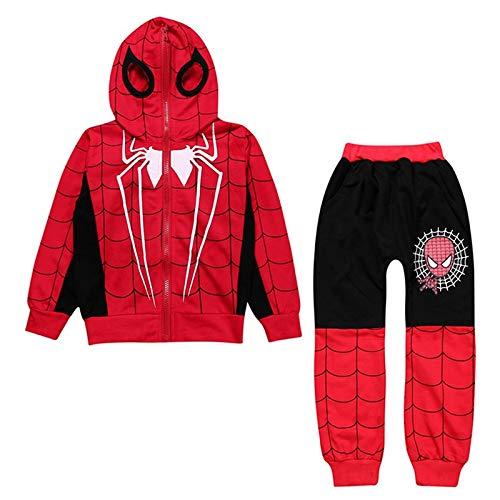 YUNMO Jungen Spiderman kleine und mittlere Kinder Set (Farbe : B, größe : 110)