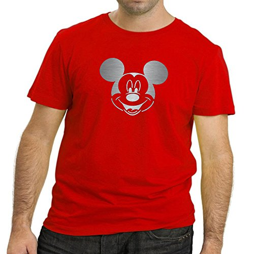 Heyuze Designer Printed Premium Quality 100% Cotton Half Sleeve Male / Men Round Neck Red T Shirt with Cartoon Design