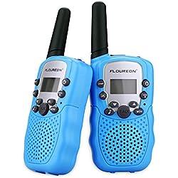 FLOUREON Toy Walkie Talkies para niños de 8 canales con rango de larga distancia, pantalla LCD (azul)