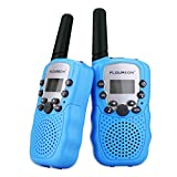 FLOUREON Toy Walkie Talkies para Niños de 8 Canales con Rango de Larga Distancia, Pantalla LCD (Azul)