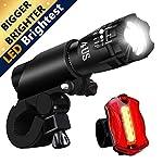 REHKITTZ-Luci-BiciLuce-per-Bici-Luci-a-LED-per-Bicicletta-Super-Luminosa-di-Resistente-allAcqua-E-alle-Intemperie-Set-Luce-Bici-LED-e-Luce-Posteriore-LED-Montaggio-Facile-Rapidit-di-Rilascio