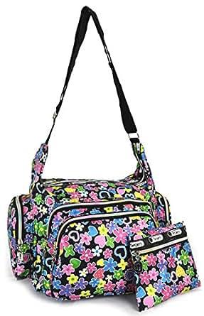 GFM Colourful Cartoon Messenger Shoulder Bag Fits A4 Folder A4 Pads for Gym, Holiday, Travel Changing Bag (6217-FRLHTS-KL)