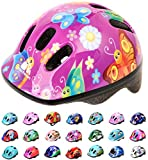 Casco Bicicleta Bebe Helmet Bici Ciclismo para Niño - Cascos para Infantil Bici Helmet para Patinete Ciclismo Montaña BMX Carretera Skate Patines monopatines MV6-2 (XS(44-48cm), Butterfly)