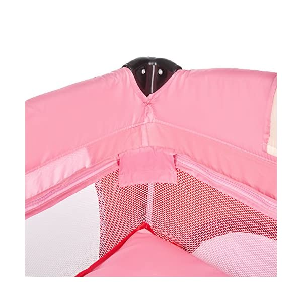 TecTake New portable child baby travel cot bed playpen with entryway -different colours- (Pink) TecTake  7