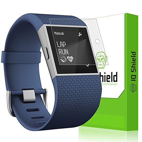 Cover Shield Protector (Fitbit Surge Screen Protector, IQ Shield® LiQuidSkin Full Coverage Screen Protector for Fitbit Surge HD Clear Anti-Bubble Film - with Lifetime Warranty by IQShield)