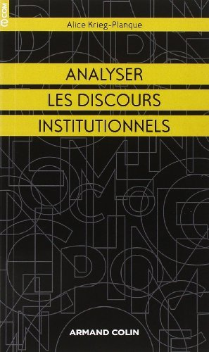 Analyser Les Discours Institutionnels [Pdf/ePub] eBook