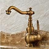 WYX@ Évier de cuivre européen 360 spin lavage bol bassin, lavabo robinet
