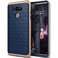 Funda LG G6, Caseology [serie Parallax] Fina proteccion de doble capa texturizada Sujecion segura Diseno geometrico [Azul Marino - Navy Blue] para el LG G6 (2016)