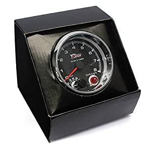 AUDEW Universel 3.75 Inch 0-8000RPM DC12V Voiture Tachymètre Odomètre Compteur de Vitesse + Shift Lumière