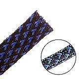 7.5m -10mm PET erweiterbar geflochten kabelschlauch kabelstrumpf kabelschutz kabelmantel –schwarzblau –Alex Tech kabel sleeve