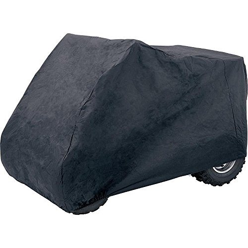 Polo Motorrad-Wetterschutz, Motorrad-Abdeckplane Quad/ATV Outdoor Abdeckplane, robust, lackschonend, kräftiges Material, hohe Stabilität, Gummizug, Schwarz, Größe L für Quad