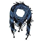 Shemagh 100x100cm 100% Baumwolle schwarz/blau
