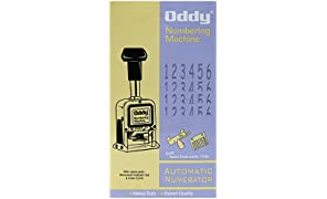 Oddy Numbering Machine 6 Digits With Spare Parts