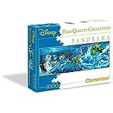 Clementoni - Puzzle disney panorama 1000 piezas peter pan: night flights (39286)