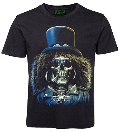 Blackshirt Company Skull Shirt TOTENKOPF MIT ZYLINDER Größe XXXL - Slash Skull T-shirt