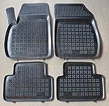ZentimeX Z963323 Schalenmatten fahrzeugspezifisch mit Anti-Rutsch-Noppen (Durchmesser circa 18mm) schwarz