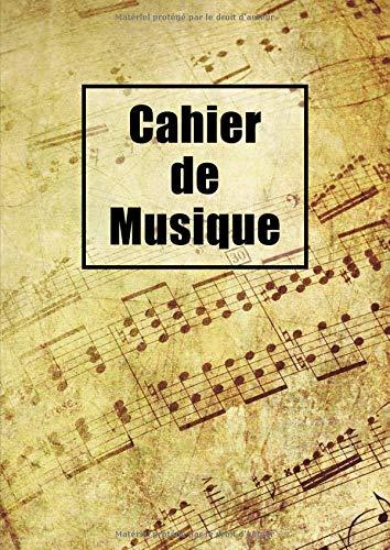 Cahier De Musique: Seyes Grands Carreaux et Portées 108 Pages A4 par Musique Atom