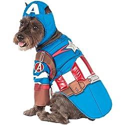 Disfraz de Rubies de los Vengadores de lujo montado Capitán América Disfraz de Mascota, Pequeño
