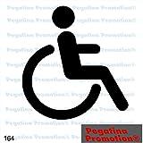 Piktogramm Typ 164 Icon Symbol Zeichen Rollstuhl behindertengerecht Rollstuhlfahrer barrierefrei Aufkleber Sticker ca.15cm von Pegatina Promotion® Aufkleber mit Verklebehilfe von Pegatina Promotion® ohne Hintergrund geplottet