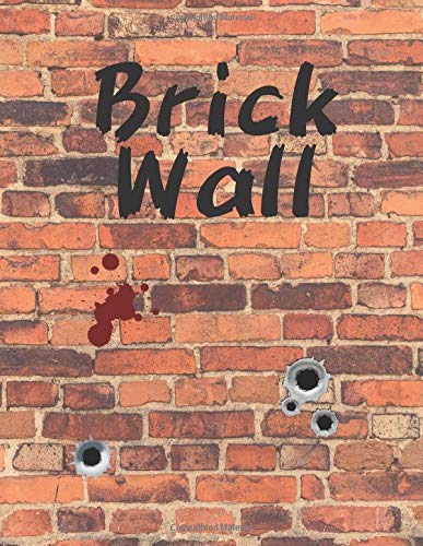 Brick Wall: Dot Grid Notebook, 8.5 x 11 Dotted Journal, Large Orange Brick Wall, Bullet Diary, Dot Graph Paper A4, Blank Drawing Book, Art Sketch Pad, Unlined - Wall Brick Graphics