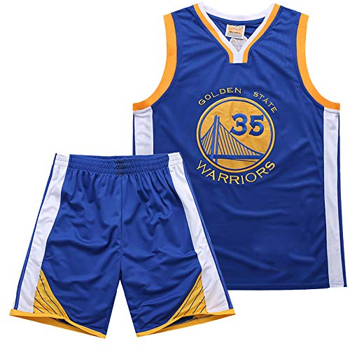 f21009f4f4f Warriors 35th Kevin Durant Jersey Bordado Set Summer Basketball Jersey