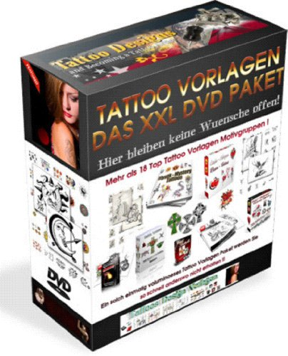 TATTOO VORLAGEN - DAS XXL DVD RIESEN PAKET - Mehr als 18 Tattoo Motivgruppen !!