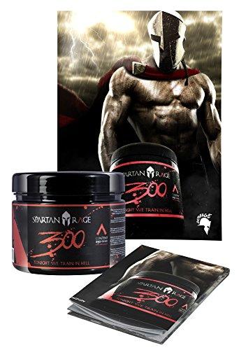 Preisvergleich Produktbild Limited Edition Gods Rage 300 Spartan Rage Pre-Workout Booster Trainingsbooster - inkl. Poster 250g
