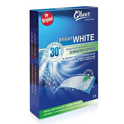 Cheer–Bright White–30Minuten Express–Pack 28Streifen Bleichen der Zähne ohne-Peroxid