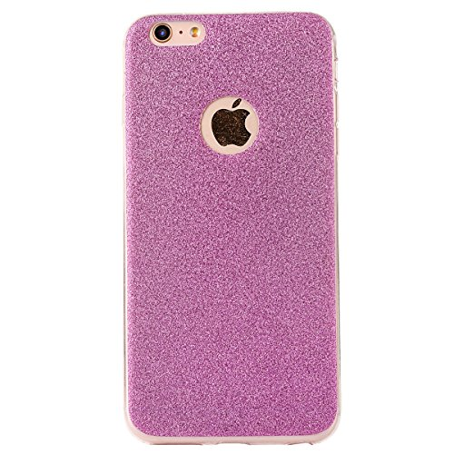 "iPhone 5s Handyhülle, iPhone SE Tasche, CLTPY Elegante Sparkly Series Slim Fit Silikon Cover, Kreativ Bling Diamant Bowknot Design Abdeckung für 4.0"" Apple iPhone 5/5s/SE + 1 x Stift - Grün 1 Lila"