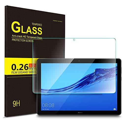 IVSO Protection écran en Verre Trempé pour Huawei MediaPad T5 10, Protecteur d'Ecran en Verre Trempé Vitre Tempered pour Huawei MediaPad T5 10 10.1 Pouce 2018 (1 Pack)