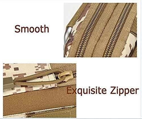 Mcdobexy Wasserdichte Militär Taktische Molle EDC Telefon Tasche Taille Pack Utility Gadget Gürtel Taille Tasche mit extra Metall Karabiner DesertDigital