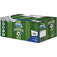 Durex Magic Box Limited Edition Mondiali, 3 Varietà di Preservativi Sync Performa e Pleasuremax, 72 Pezzi + 6 Sottobicchieri in Omaggio