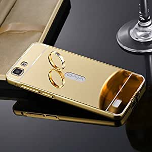Carla Luxury Metal Bumper + Acrylic Mirror Back Cover Case for Vivo V1 Max + Digital LED Watches Unisex Silicone Rubber Touch Screen by carla Store.