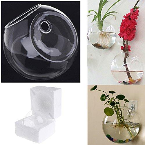 Jiamins Jarrón de Cristal para Flores