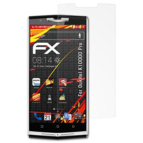 atFolix Schutzfolie kompatibel mit Oukitel K10000 Pro Bildschirmschutzfolie, HD-Entspiegelung FX Folie (3X)