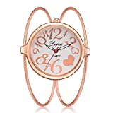 JiaMeng Damas Mujeres Pura Cara De Acero Inoxidable De Malla De Banda Reloj analógico de Pulsera de Cuarzo Casual para Mujer(Multicolor4)