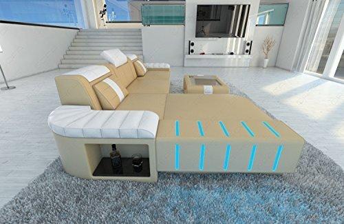 moderne Canapé d'angle Bellagio l-forme avec éclairage LED
