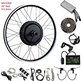 YOSE POWER 26''Zoll Umbausatz Heckmotor E-Bike Conversion Kit Schraubrietzel 48V 1000W LCD Freewheel Conversion Kit