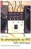 Du phonographe au MP3 - Une histoire de la musique enregistrée, XIX-XXIe siècle
