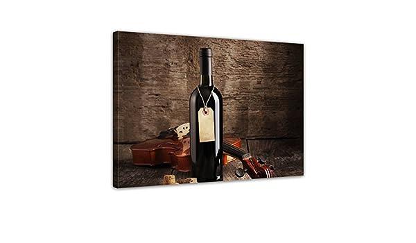 Wein und Violine Leinwandbild