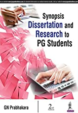 Synopsis Dissertation And Research To Pg Students